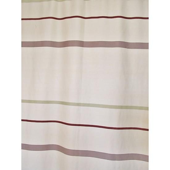RUE beige -  tissu imprimé 280 cm - 70% polyester...