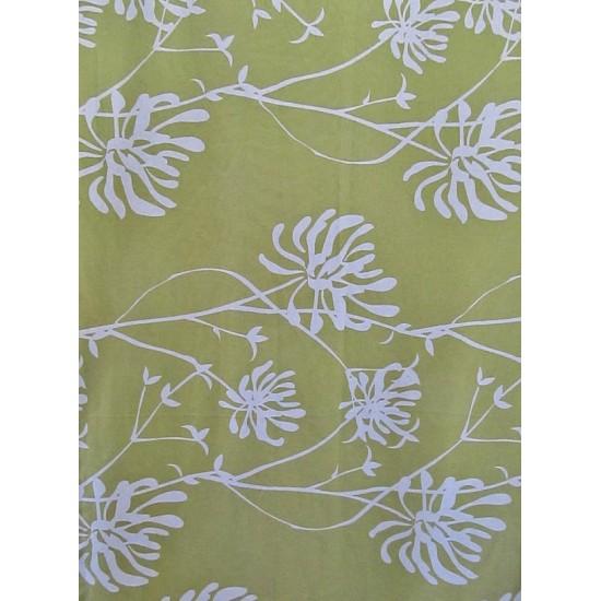 GALA vert -  tissu imprimé 280 cm - 90% coton 10%...