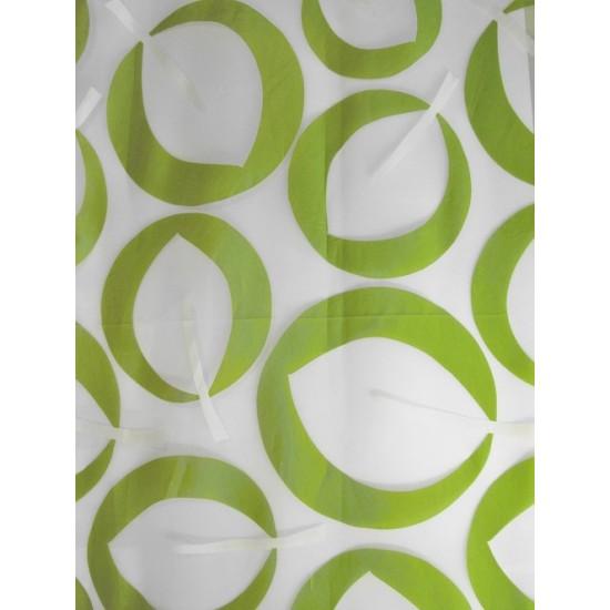 IZA vert - voilage imprimé - 280 cm - 55%...