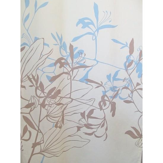 IONA  BLEU -  tissu imprimé 280 cm - 100% coton -...