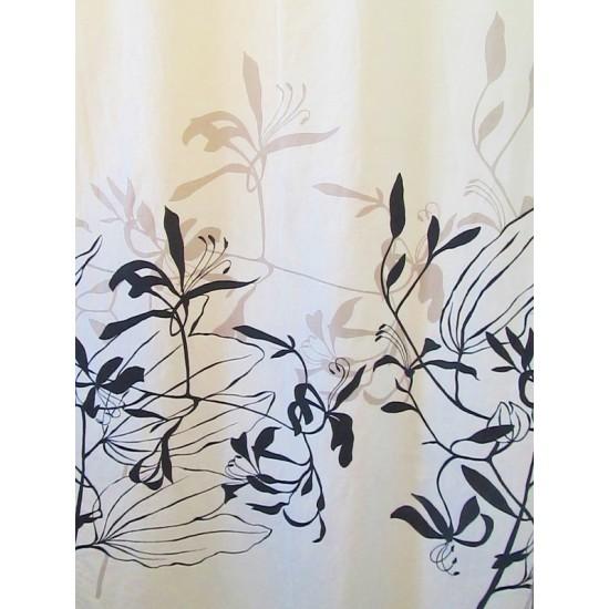 IONA GRIS -  tissu imprimé 280 cm - 100% coton -...