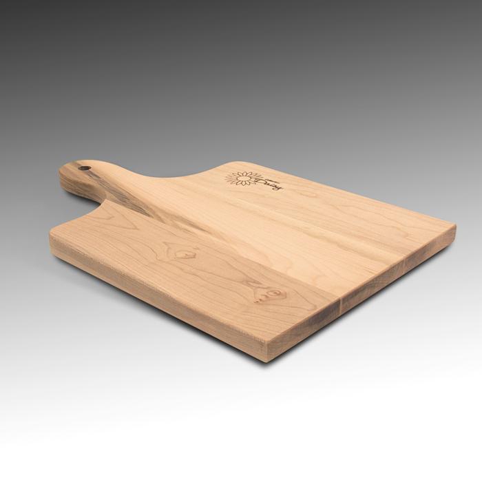 planche pain avec poign e en rable bois de face. Black Bedroom Furniture Sets. Home Design Ideas