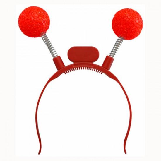 Antennes Lumineuses Del Boules Rouges - en paquet...