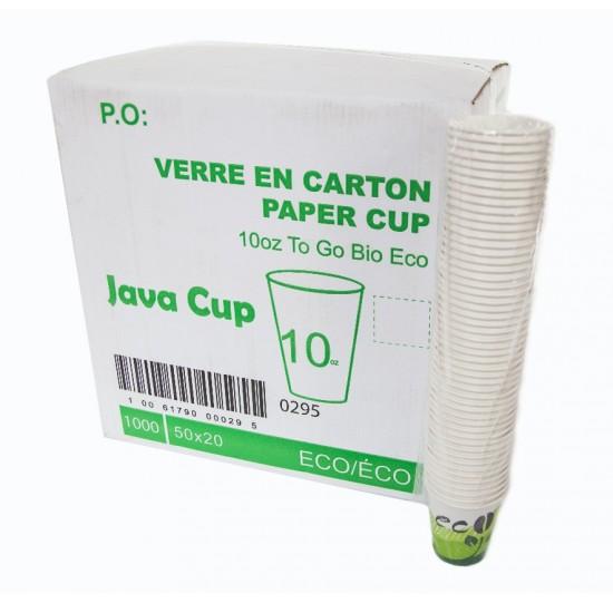 Verre Java de carton Eco 10oz Vert (Caisse)