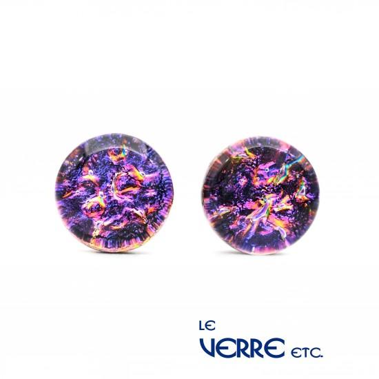 Boucles d'oreilles en verre dichroïque (sur tige)