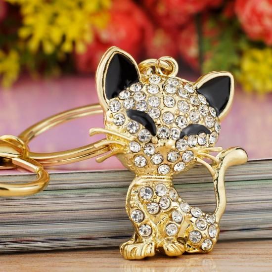 Porte-clés Chat Cristal