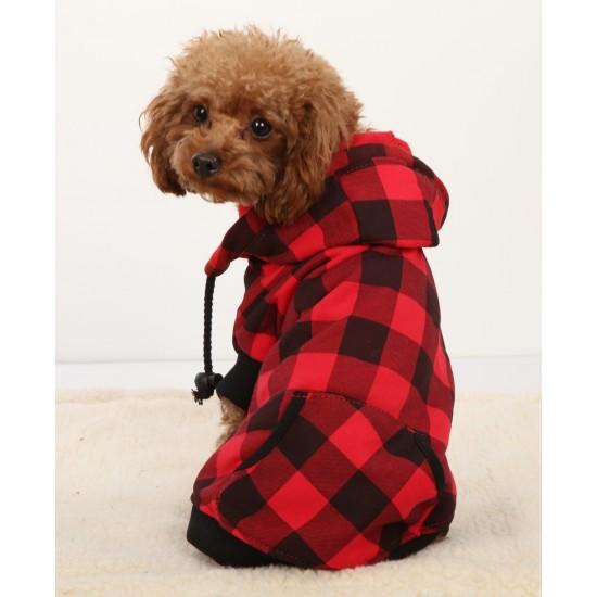 Veste à carreaux pour chien