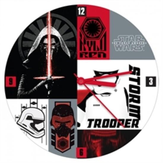 Horloge Star Wars en bois 13.5
