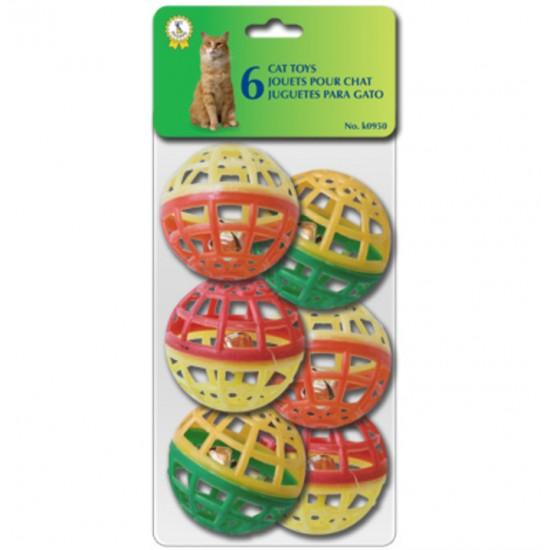 Jouet pour chat Balles avec grelot multicolores