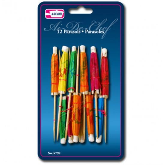 Ensemble 12 parasols décoratifs