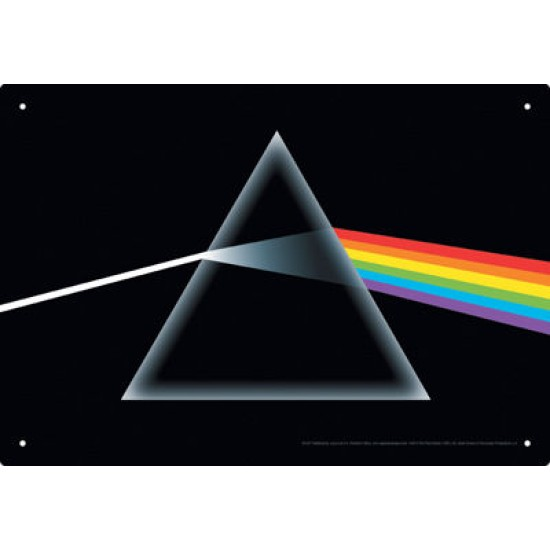 Enseigne en métal Pink Floyd / The Dark Side of...