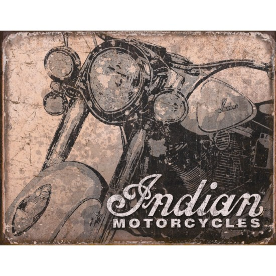 Enseigne en métal Indian Motorcycle / Style...