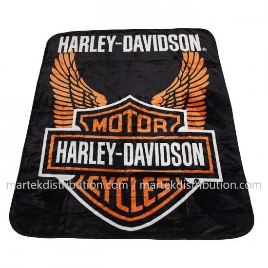 Couverture Harley-Davidson en peluche