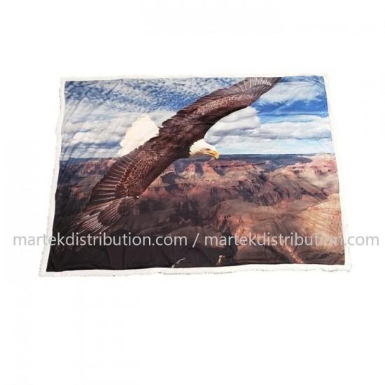 Couverture (Jeté) Aigle et montagnes