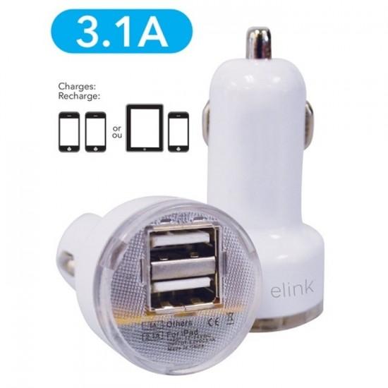 Chargeur à 2 prises USB pour voiture