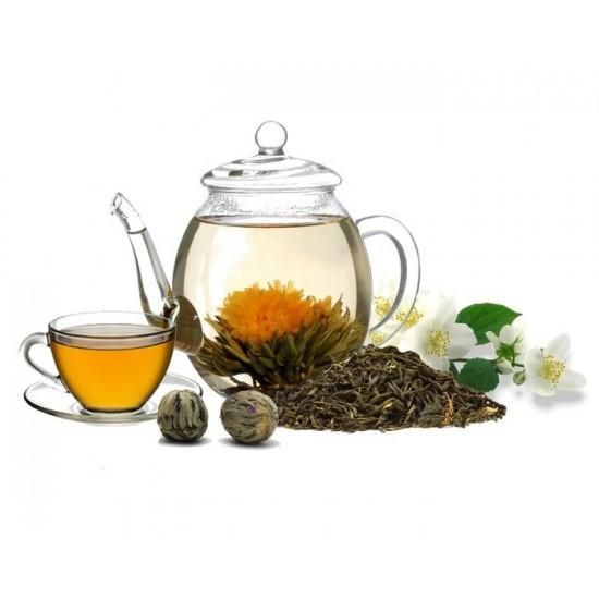 Fleurs de thé vert