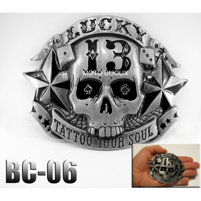 Bc-06, Boucle de ceinture , Lucky 13 Tattoo Your Soul 8666108bf38