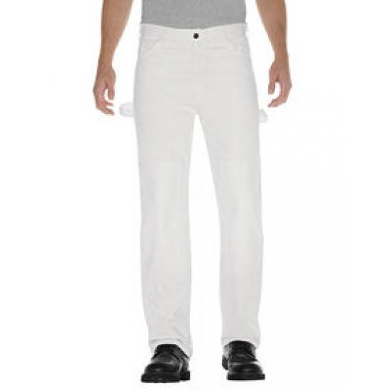 Pantalon de peintre avec empiècements doubles aux...