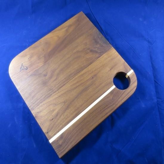 PLATEAU DE SERVICE à coins ronds fait de bois...