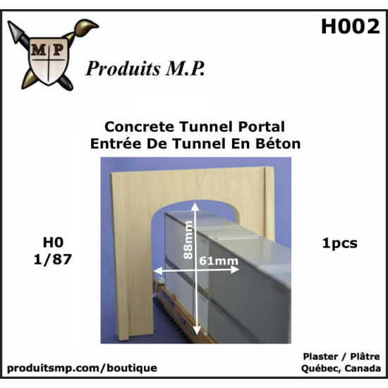 H002 Entrée de tunnel en béton