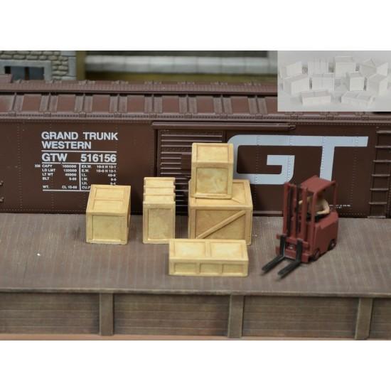 H044 Grosses caisses de bois