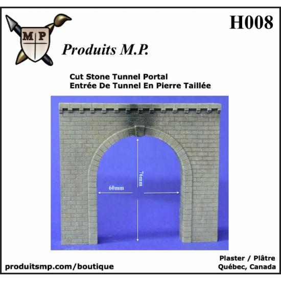 H008 Entrée de tunnel en pierre taillée