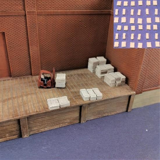 N007 Caisses de bois pour train N