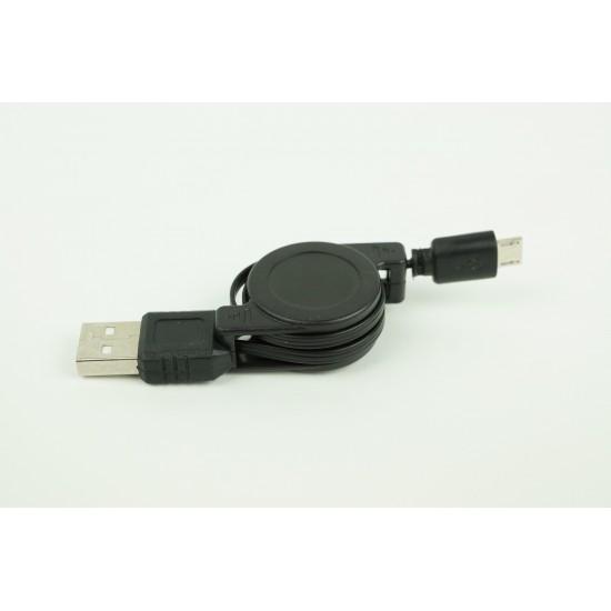 Câble USB rétractable (USB à micro-USB)