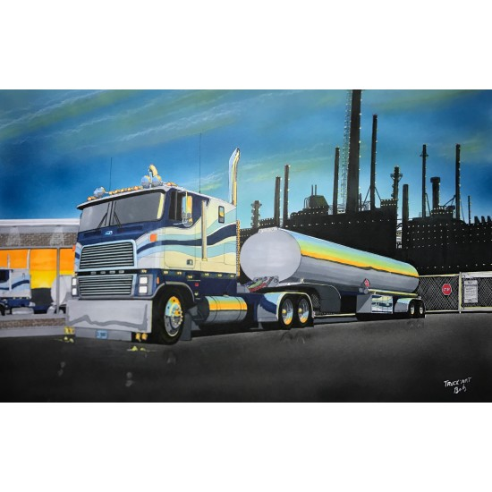Ford cabover by night