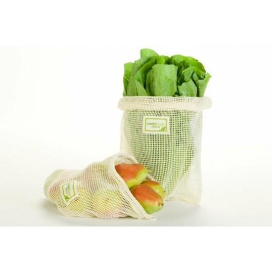 Ensemble de 4 sacs en filet pour fruits et...