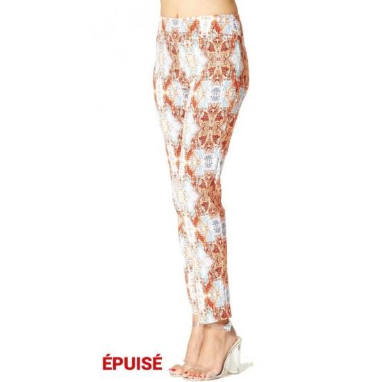 Pantalon imprimé amincissant