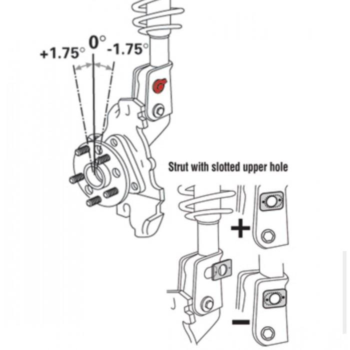 Camber Kit Avant Spc Modèle 81280 Honda Civic 2014-15