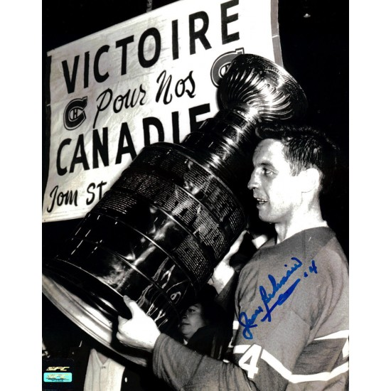 Jean Béliveau photo 8x10 signée (SFC10112)