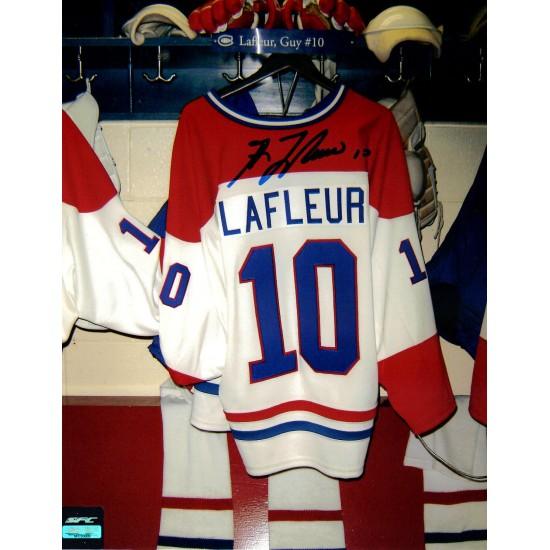 Guy Lafleur photo 8x10 signée (SFC10009)