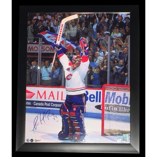 Patrick Roy photo 15x19 signée dans un cadre...