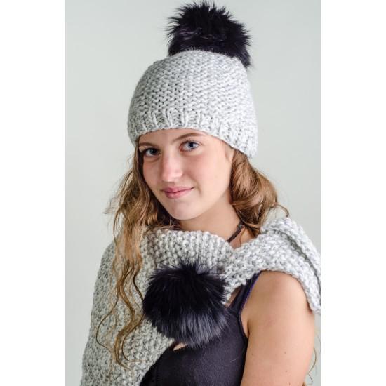 Tuque et foulard en tricot