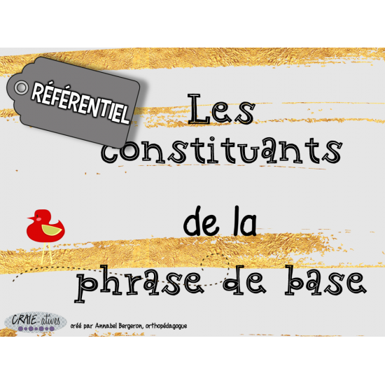 Phrase - Constituants de la phrase (5e année)