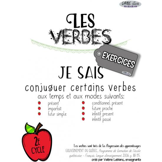 Classes de mots - Verbes à conjuguer