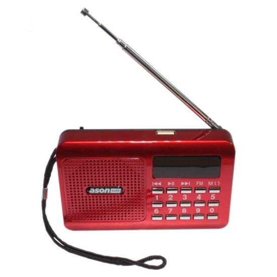 Radio FM rouge / Lecteur MP3 portable