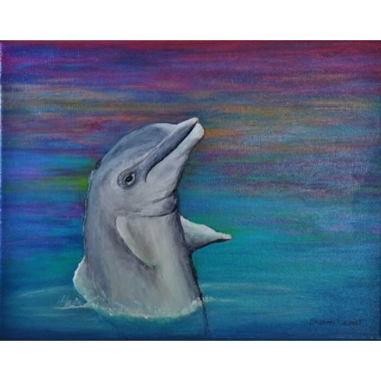 El delfin al sol poniente (Dauphins au coucher du...