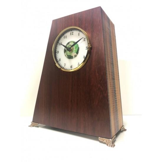 Horloge carillon collection Héritage en padouk et...