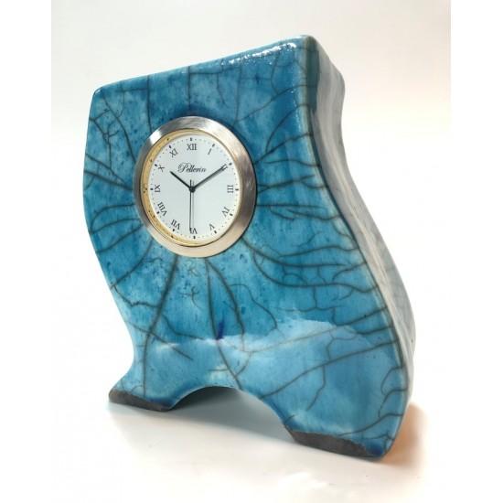 Horloge en céramique  6 pouces  bleue 17001