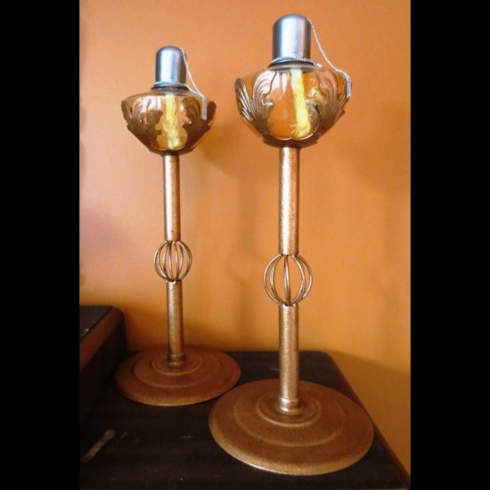 Lampes à l'huile Art déco