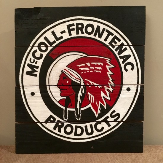 Enseigne ''Red Indian Mc coll-Frontenac''