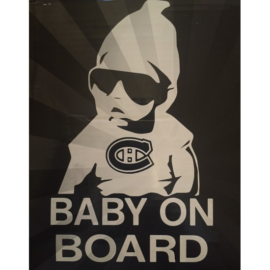 6'' Montreal Canadiens Baby on Board Achetez en 2...