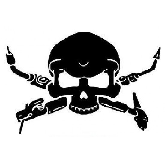 4''  Squelette De Soudeur Décalque Vinyle