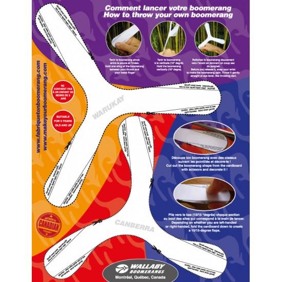 Boomerangs d'intérieur en carton