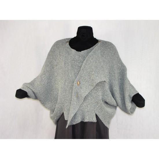 Veste carrée gris tweed