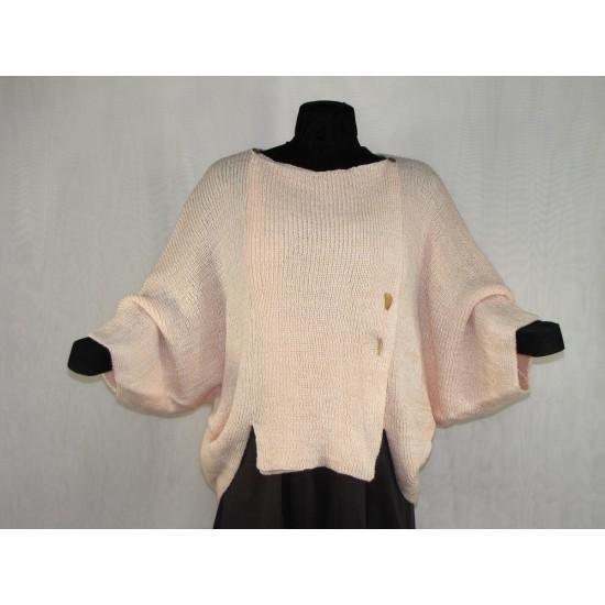 veste carrée rose pâle