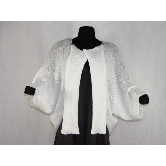 veste carrée blanc